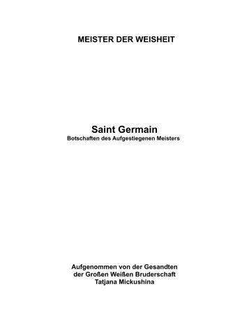 Dieses Buch mit Botschaften von Saint Germain ist der ... - Sirius-net