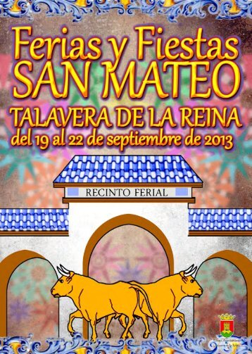 Programa ferias san mateo_2013.pdf - Ayuntamiento de Talavera ...