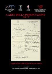 carte della persecuzione - 'Istituto Storico della Resistenza e dell'Età ...
