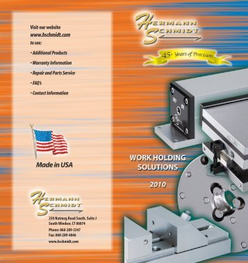 Harman Schmidt Products Catalog.pdf - JW Donchin CO.
