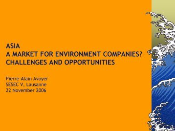 China Opportunities & Strategies, Factors of Risk & Success ... - sesec