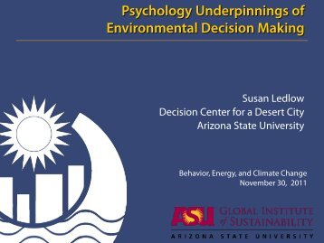 Psychology Underpinnings - Stanford University