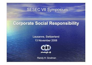 Corporate Social Responsibility Corporate Social ... - sesec