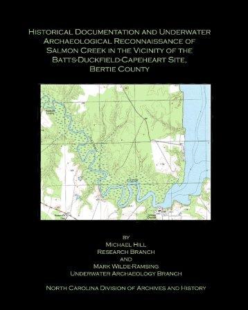 Salmon Creek Report - North Carolina Archaeology