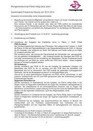 Protokoll der Sitzung vom 30.01.2013 - Pfarrei Heilig Geist Jülich
