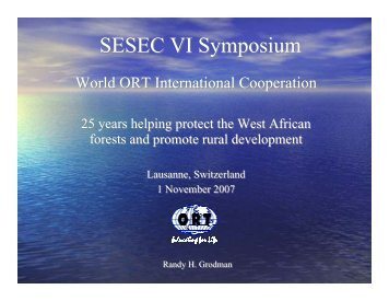 ORT International Cooperation - sesec