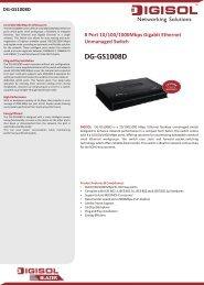 DG-GS1008D - Digisol.com