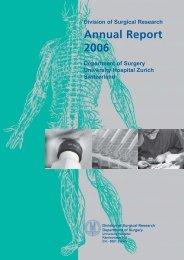 Annual Report 2006 - Klinik für Thoraxchirurgie