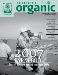 2007 Farm Bill – Organic Famers Demand Fair Share - CCOF