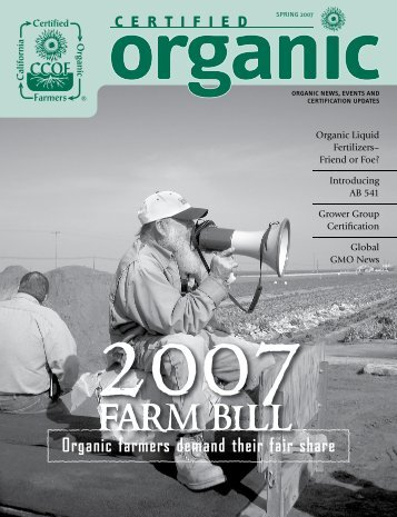 2007 Farm Bill – Organic Famers Demand Fair Share - CCOF