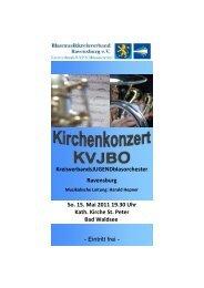Flyer und Programm - Blasmusikkreisverband Ravensburg