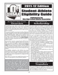 OHSAA Eligibility Guide