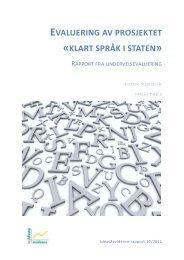evaluering av prosjektet «klart språk i staten - Regjeringen.no