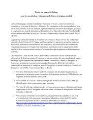 Dossier de support technique pour les consultations régionales - CSM