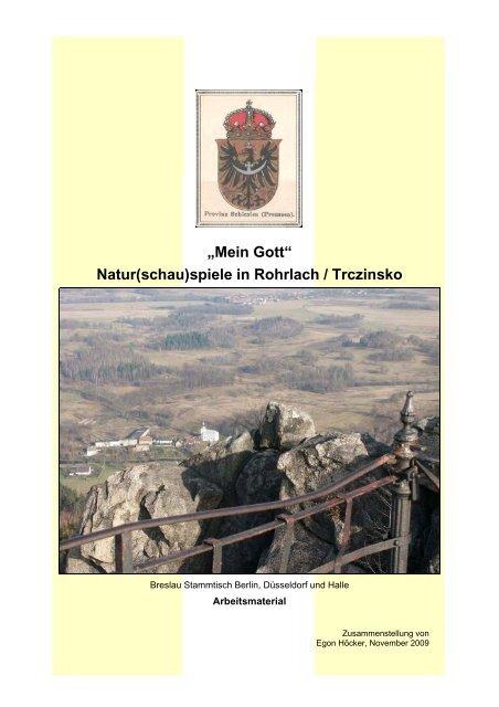 """""""Mein Gott"""" Natur(schau)spiele in Rohrlach ... - Heinz Kornemann"""