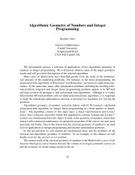 Algorithmic Geometry of Numbers and Integer ... - The OR Society