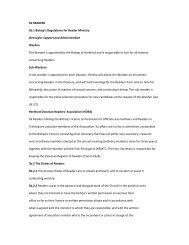 3b READERS 3b.1 Bishop's Regulations for Reader Ministry ...