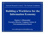 Building a Workforce for the Information Economy - nitrd