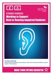 Working to support deaf or hearing impaired students - Edinburgh's ...
