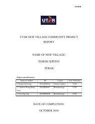 UTAR NEW VILLAGE COMMUNITY PROJECT
