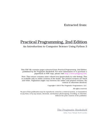 practical programming 2nd edition pdf