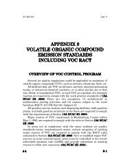 appendix 8 volatile organic compound emission standards ...
