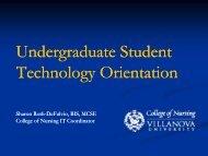 Undergraduate - Villanova University