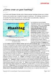 ¿Cómo crear un gran hashtag? - Noticias Universia