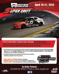 Motegi Racing Super Drift Challenge - Toyota Grand Prix of Long ...