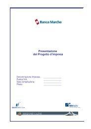 Modello di presentazione del progetto d'impresa - Biclazio.it