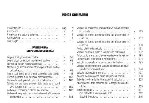 INDICE SOMMARIO - La Tribuna