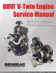 OHVI V-Twin Engine Service Manual for Model - Generac Parts