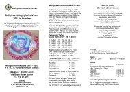 Religionspädagogische Kurse 2011 in Quarten