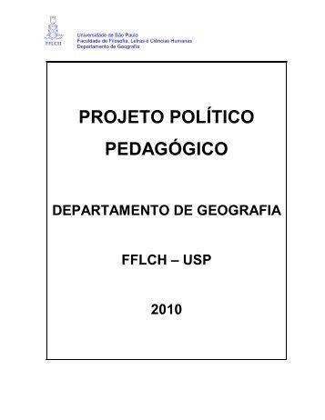 Projeto Político Pedagógico - Departamento de Geografia - USP