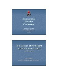 International Taxation Conference The Taxation of Permanent ...