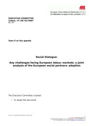 Social Dialogue: Key challenges facing European labour ... - EZA