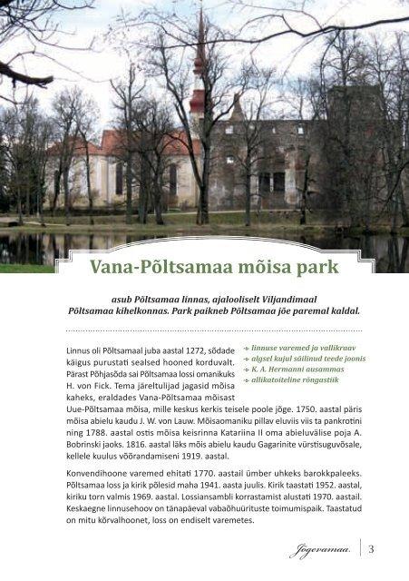 Lõuna-Eesti pargid - Keskkonnaamet