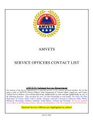 AMVETS SERVICE OFFICERS CONTACT LIST