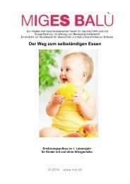 Der Weg zum selbständigen Essen Deutsch - MVL