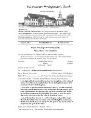 download - Westminster Presbyterian Church