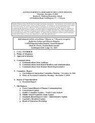 agenda for regular board of education meeting - Southington Public ...