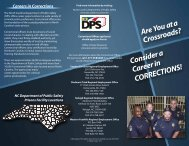 Consider a Career in CORRECTIONS! - North Carolina Department ...