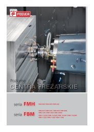 seria FMH seria FBM Poziome - Pionowe Centra Frezarskie CNC