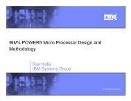 Guest lecture - Ron Kalla - IBM Power5 arch.