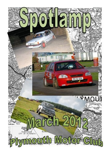 spotlamp March 2012 - Plymouth Motor Club