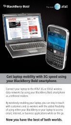Get laptop mobility with 3G speed using your Blackberry Bold ...