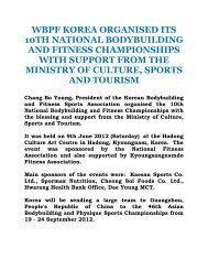 wbpf korea organised its 10th national bodybuilding and ... - ABBF