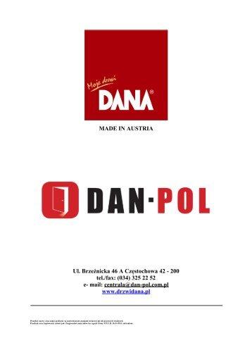 Katalog obiektowy - Drzwi DANA