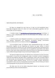 Mitteilung des Botschafters - Japanische Botschaft in der Schweiz