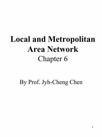 Local and Metropolitan Area Network